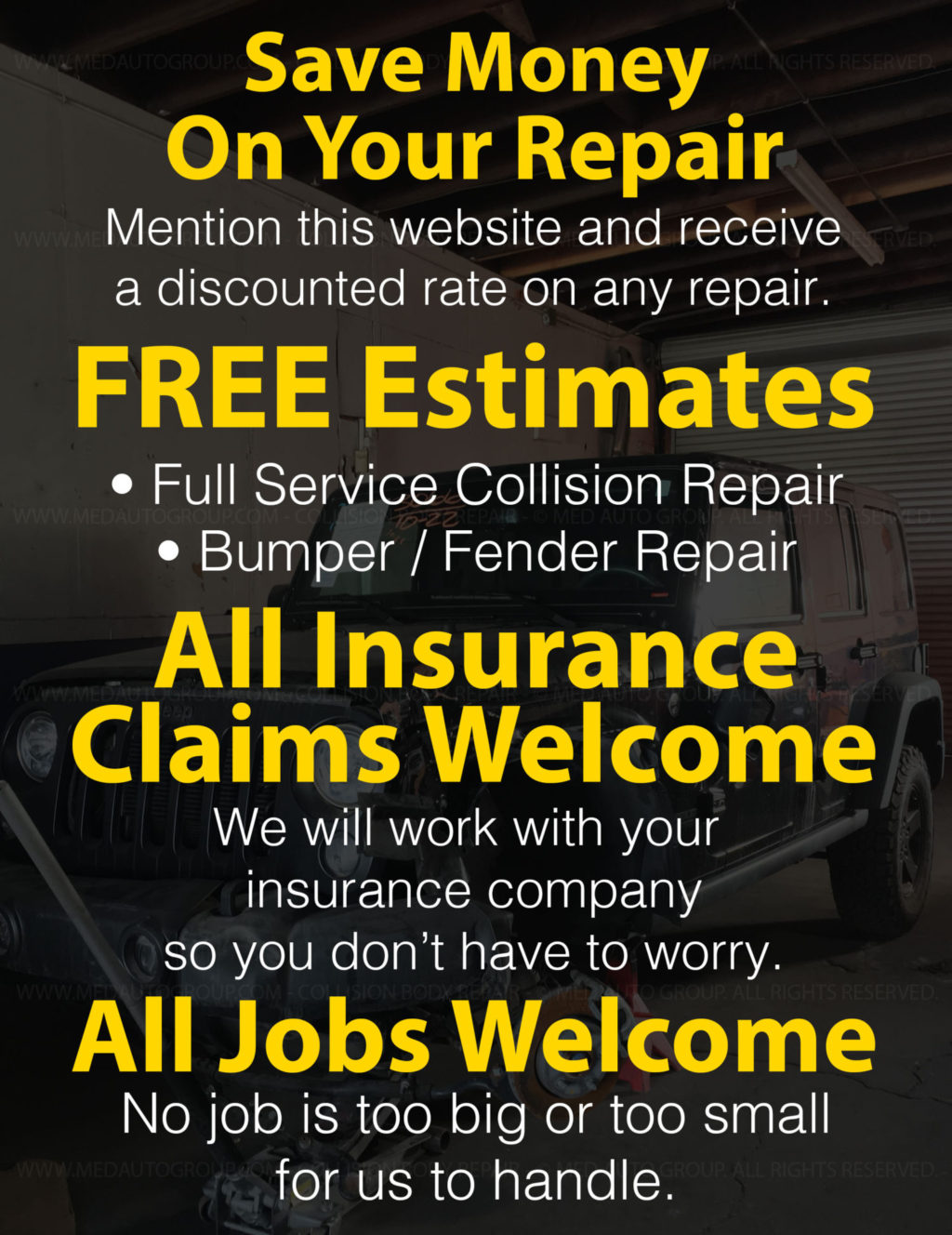 Collision Body Repair   Med Auto Group